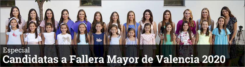 Candidatas a Fallera Mayor de Valencia 2020