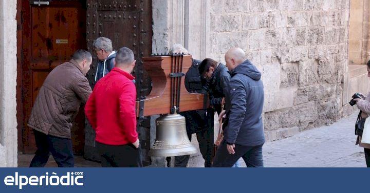 La primera campana de santa Catalina de Valencia llega a la iglesia - elperiodic.com