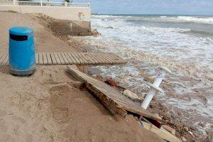 Estado de la playa de La Goleta de Tavernes de la Valldigna