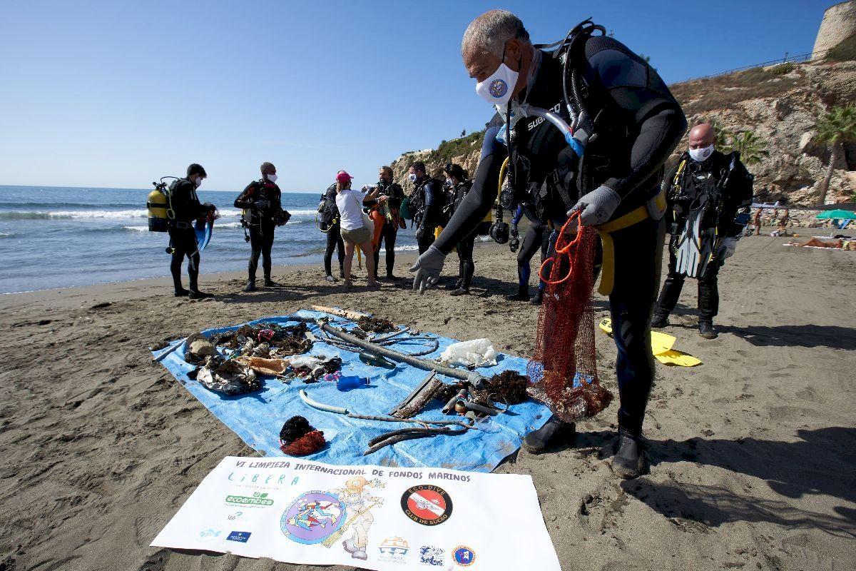 150 kilos de basuras marinas retiradas hoy de la Comunidad Valenciana