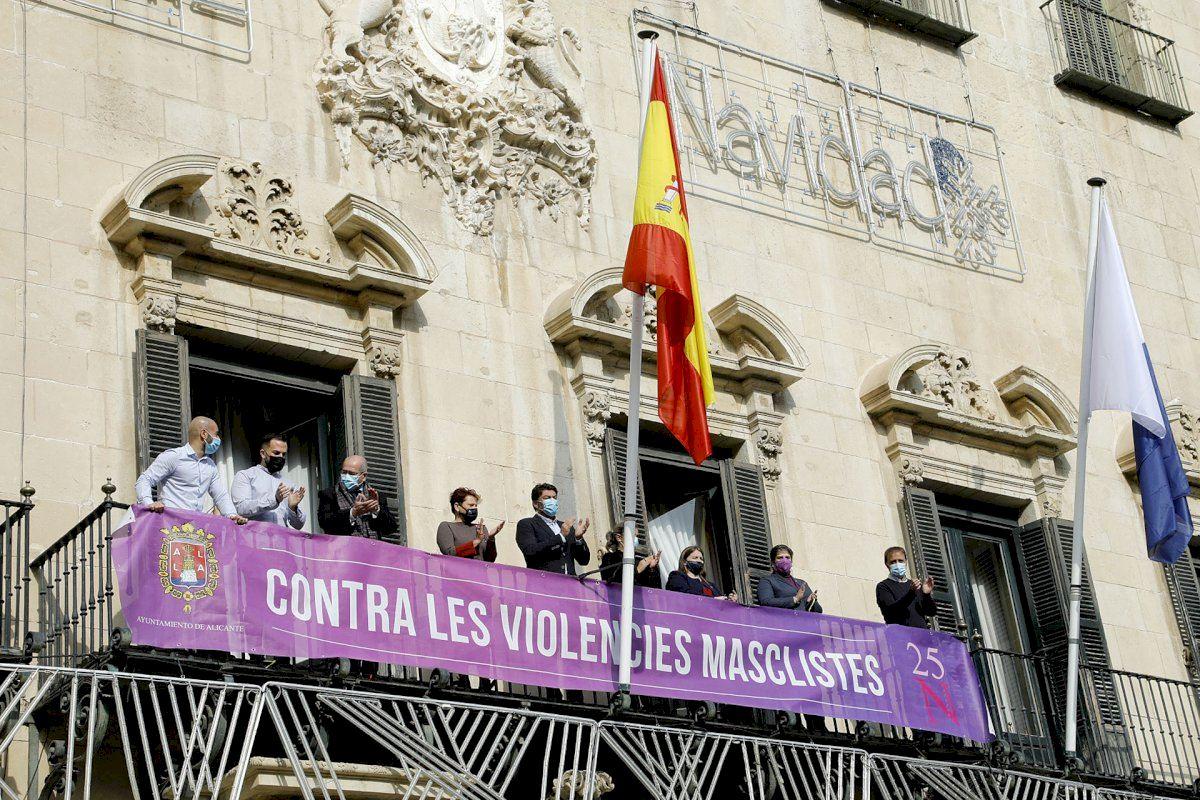 """El Ayuntamiento de Alicante se suma al Día Contra la Violencia de Género con la campaña """"Ni esperamos, ni callamos, ni descansamos"""""""