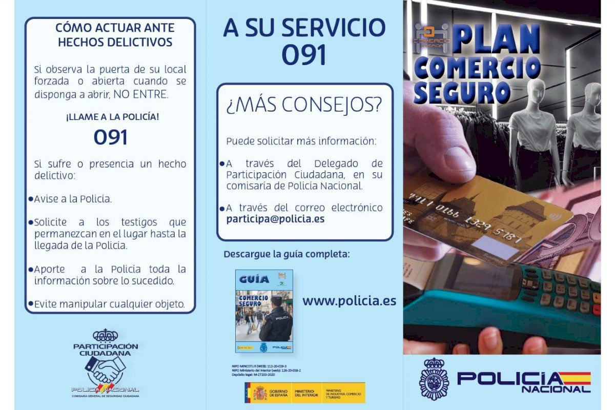 La Policía Nacional activa su Plan de Comercio Seguro reduciendo el número de hurtos y deteniendo a cuatro personas este fin de semana