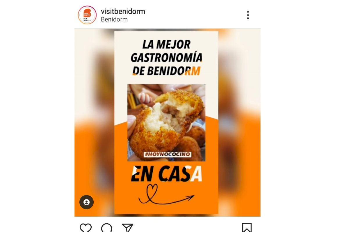 Benidorm impulsa la iniciativa #HoyNoCocino para aglutinar la oferta de hostelería con servicio a domicilio o 'take away'