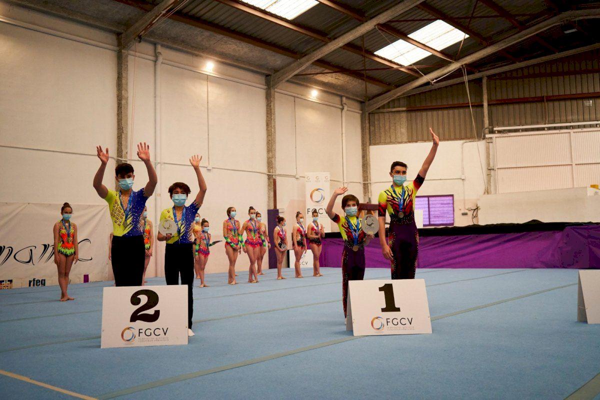 Dinamic y Acrobatik disfrutan del Campeonato Autonómico de Gimnasia Acrobática