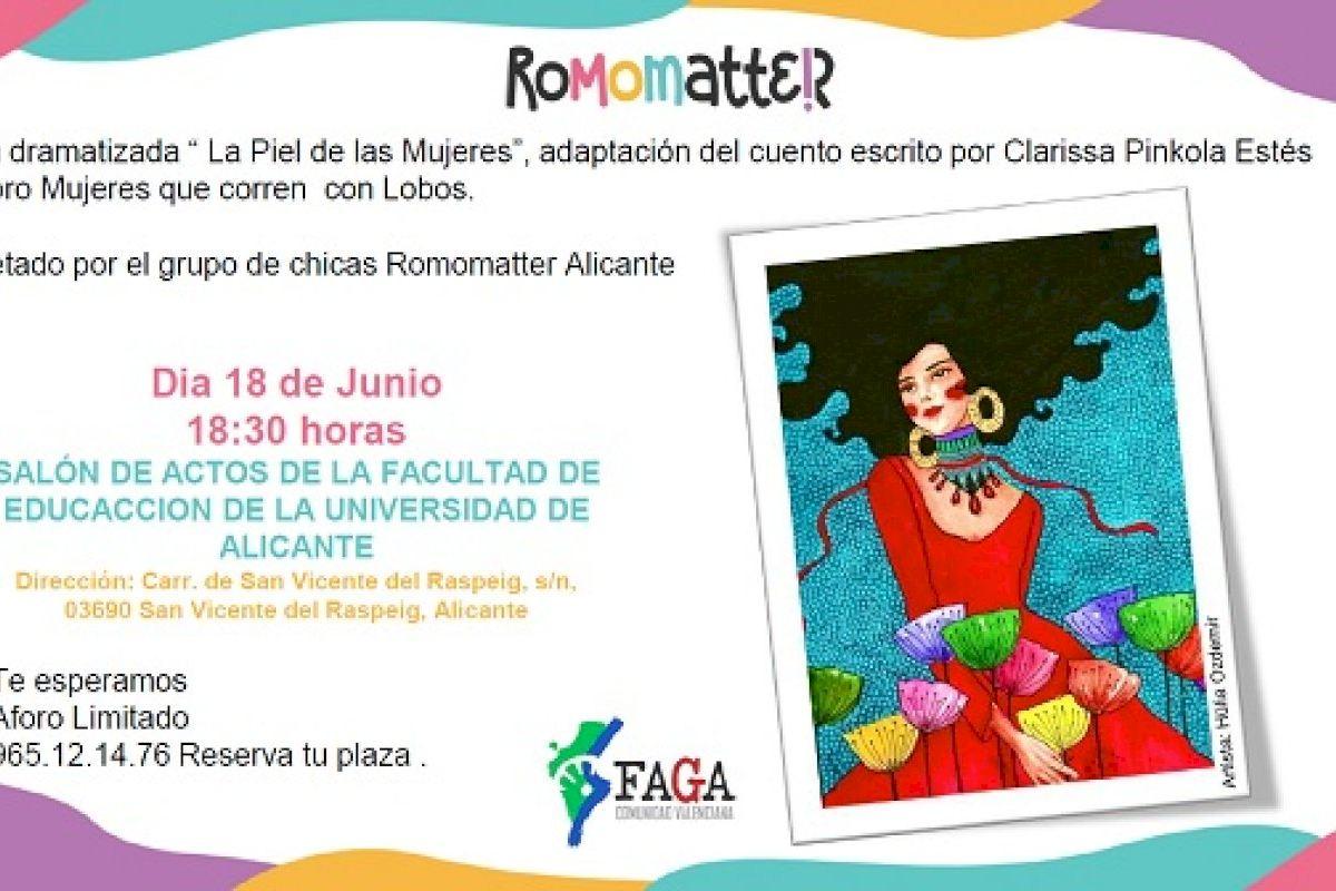 """La UA y FAGA celebran el acto de clausura del proyecto internacional RoMOMatteR con la lectura dramatizada """"La Piel de las Mujeres"""""""
