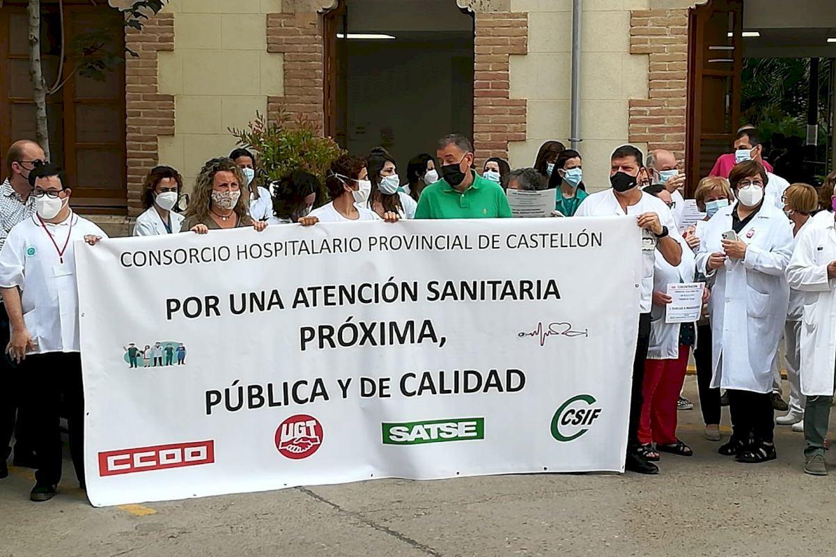 Los sindicatos del Hospital Provincial piden respaldo a los ayuntamientos para recuperar su derecho a la negociación en el Consorcio