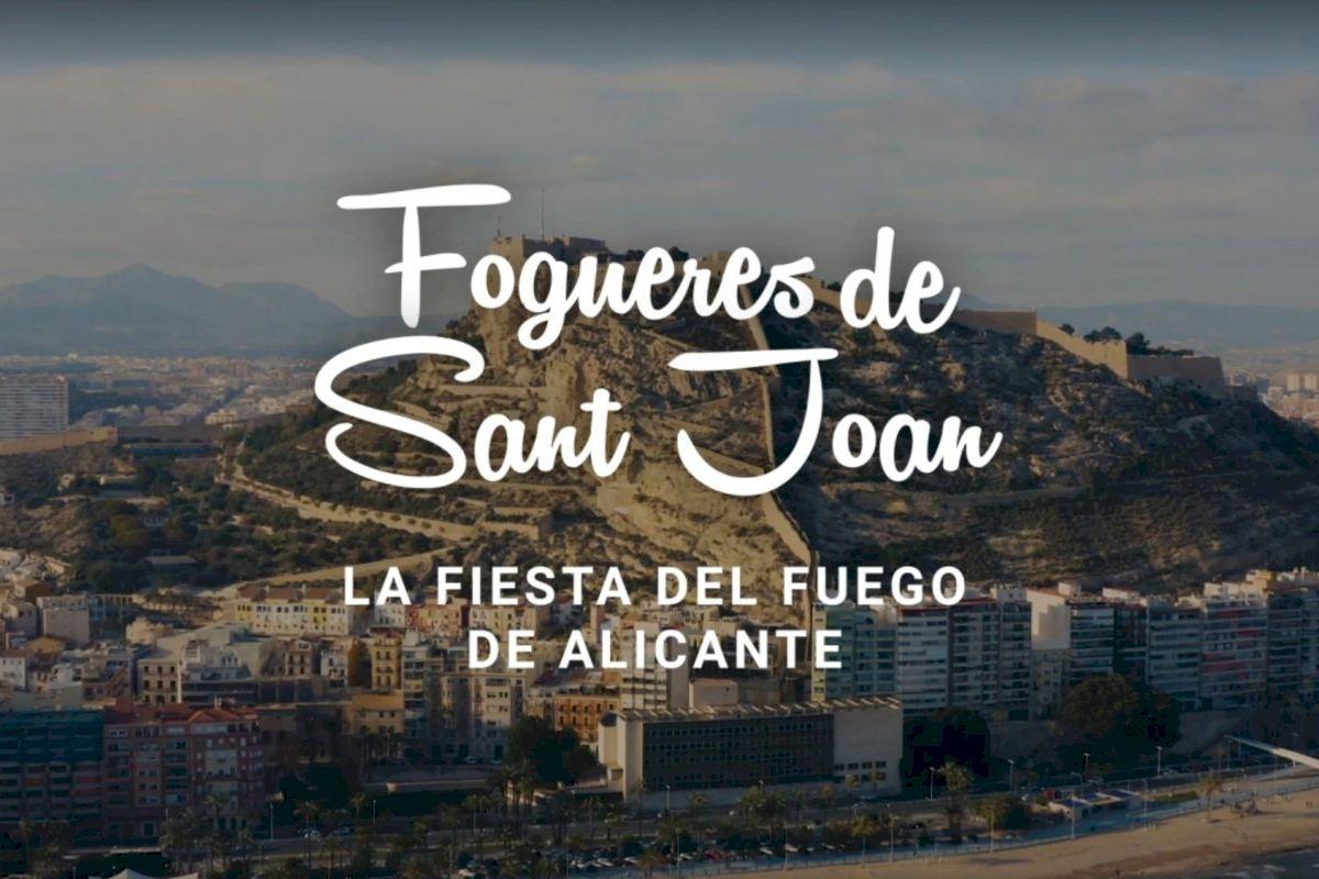 La Generalitat promociona Les Fogueres de Sant Joan con un vídeo que difunde la tradición, el arte, la música y la gastronomía de las fiestas