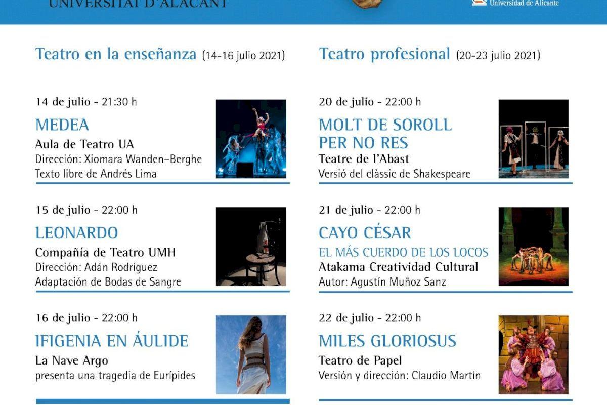 La UA inaugura mañana, con alta representación institucional, la IX edición del Festival de Teatro Clásico de L'Alcúdia-UA