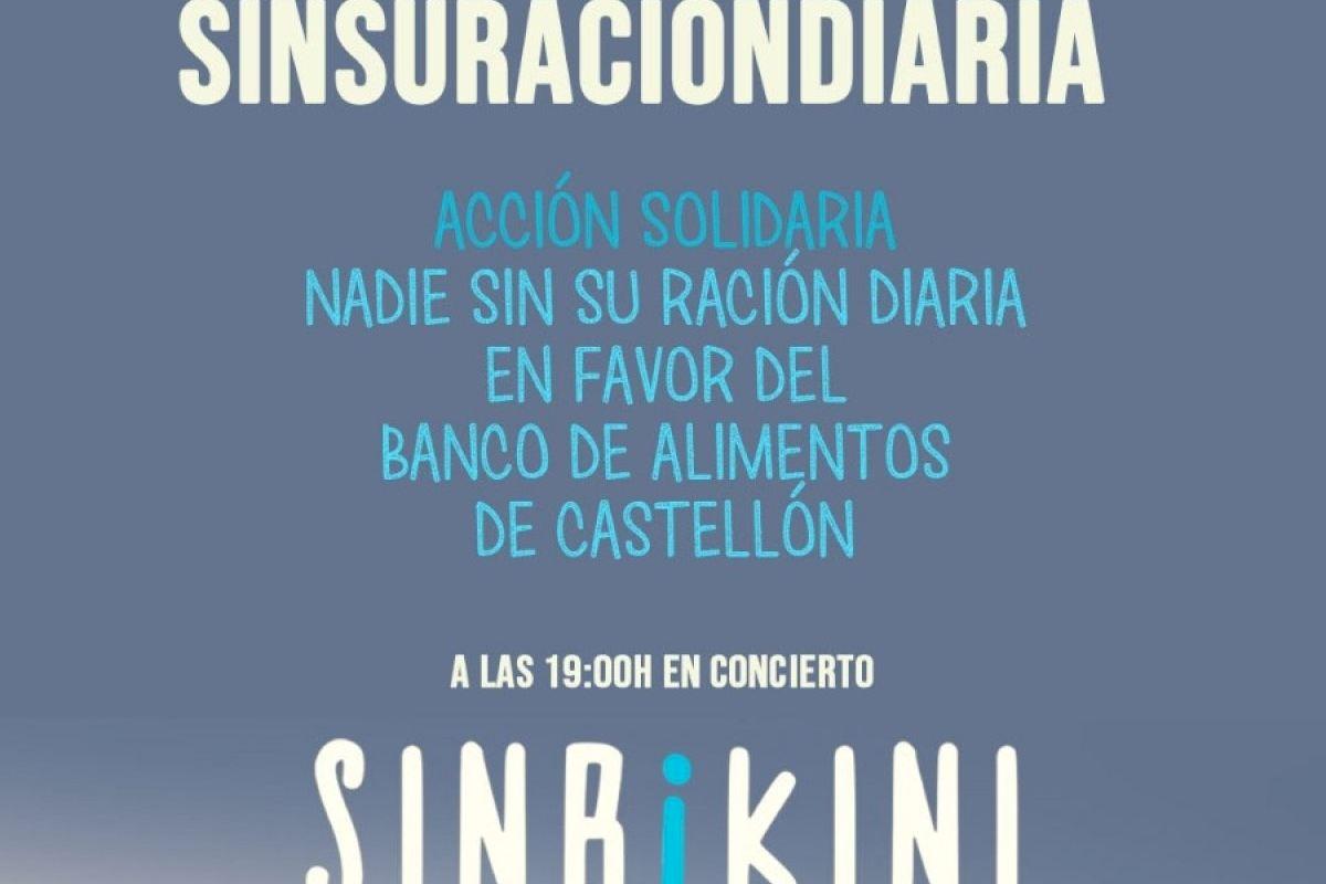 El chiringuito LaPlaya organiza un concierto de SinBikini con una acción solidaria de Nadie Sin Su Ración Diaria para Banco de Alimentos