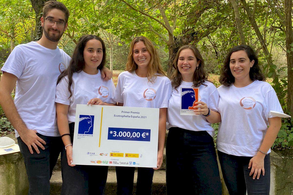 Estudiantes de la UPV ganan Ecotrophelia España 2021 con un innovador helado de algarroba y naranja