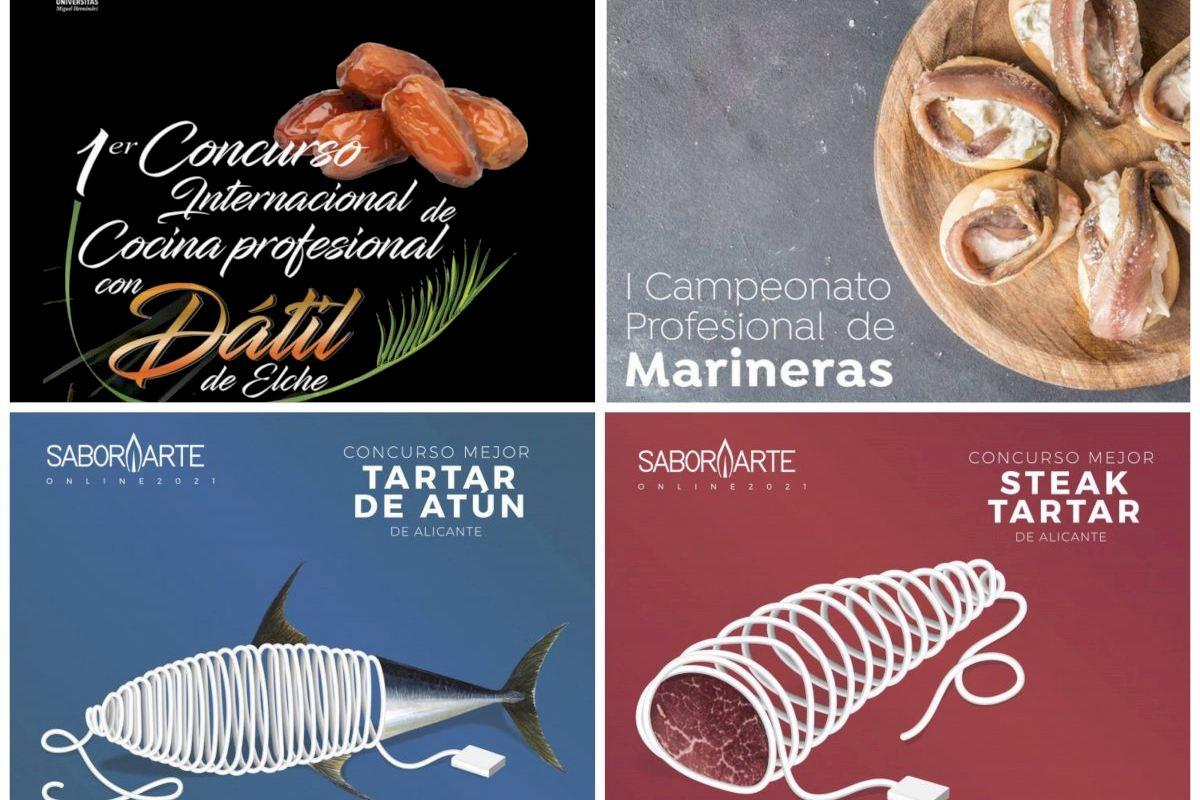 Promesas y referentes de la cocina de Alicante y Murcia compiten por la mejor elaboración con Dátil de Elche, marineras, steak tartar y tartar de atún rojo del Mediterráneo