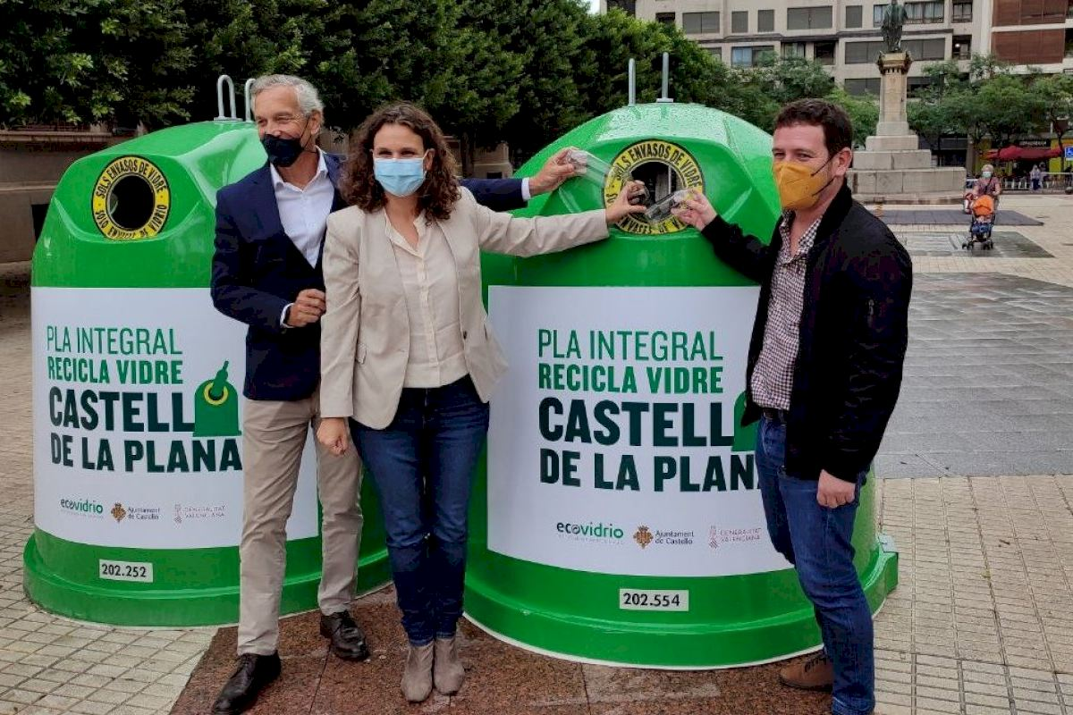 Castelló incrementará un 30% la recogida de vidrio con una nueva apuesta por el reciclaje