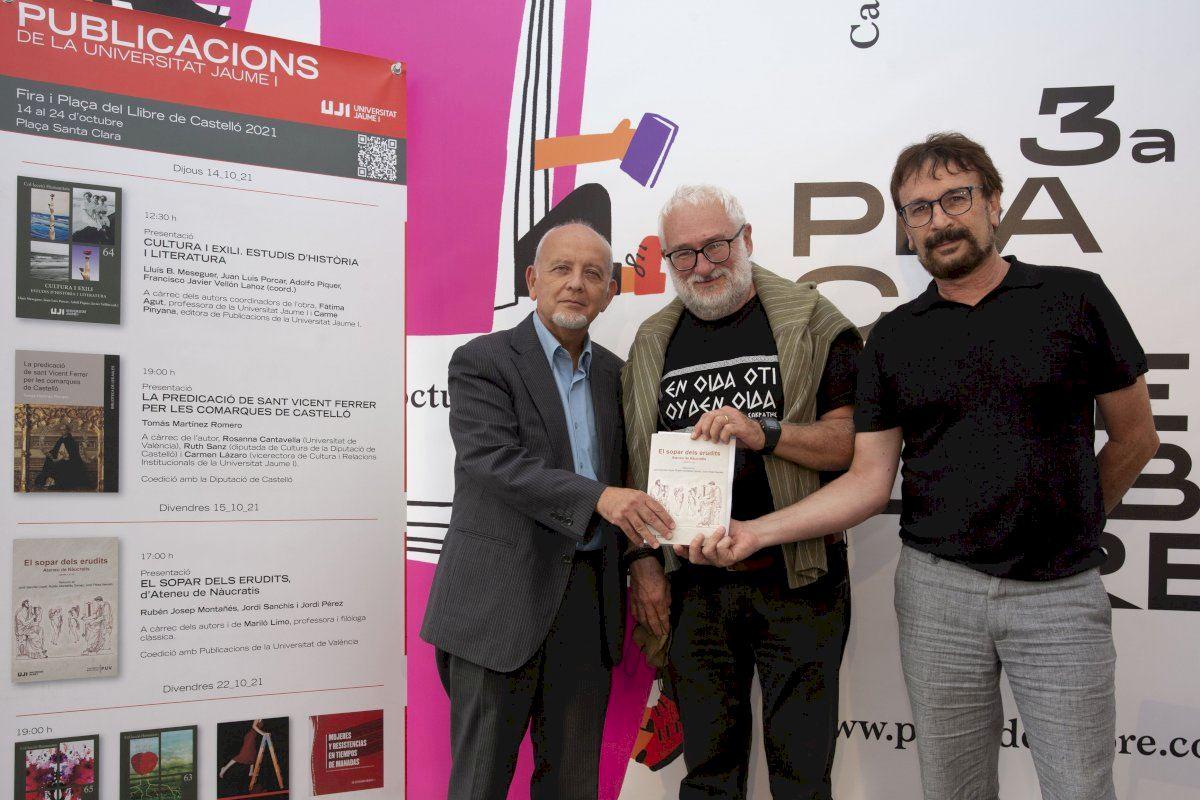 La UJI presenta la obra «El sopar dels erudits» en la Feria de Libro de Castelló