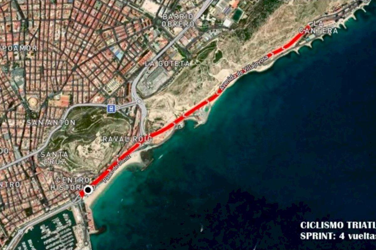Alicante prepara un amplio dispositivo de seguridad y tráfico para el 'Alicante Triatlón 2021'