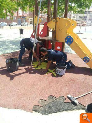 L'Ajuntament d'Alfafar continua realizando la puesta a punto de los parques y edificios municipales