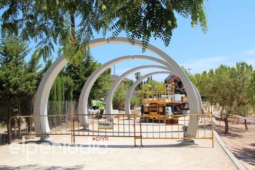 Infraestructuras repone 31 los arcos de Hormigón de la cuarta fase ...