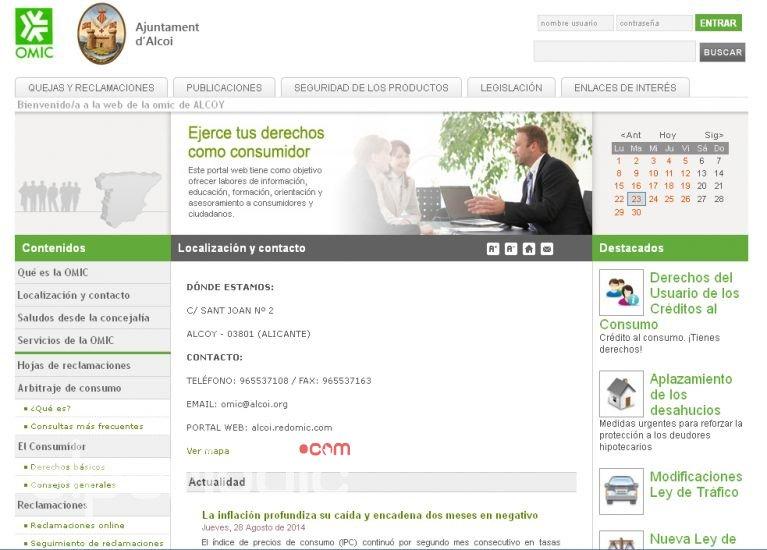 L oficina municipal d informaci al consumidor renova la for Oficina del consumidor benidorm