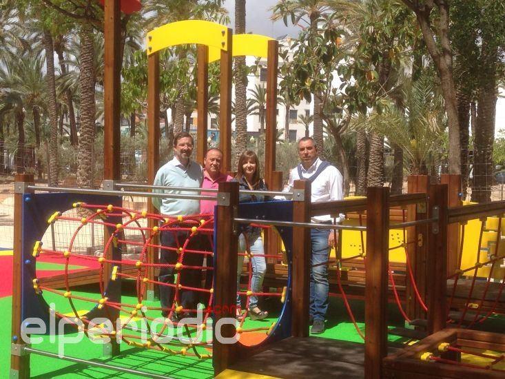 Elche Cuenta Ya Con Una Zona De Juegos Infantiles Adaptados A Ninos