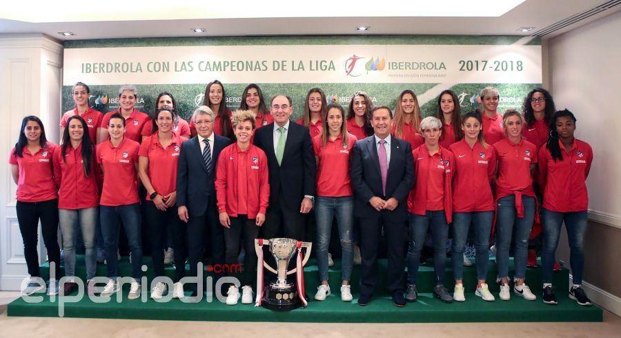 Ignacio gal n recibe al atl tico de madrid femenino bicampe n de la liga iberdrola - Oficinas de iberdrola en madrid ...